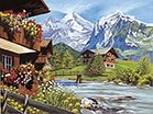 Reeves Painting by Numbers - Mountain Chalets