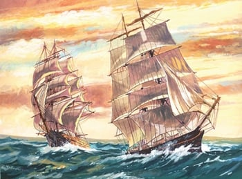 Reeves Painting by Numbers - Sailing Ships.