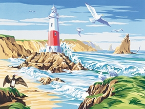Reeves Painting by Numbers - The Lighthouse.