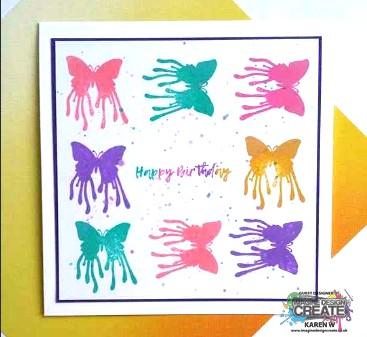 Birthday Butterfly blot