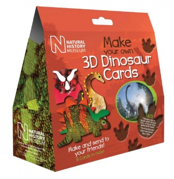Make your own 3D Dinosaur Cards.