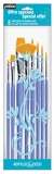 pebeo pack of 8 yellow polyamide brushes.