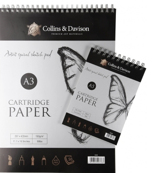Collins & Davison Head Bound Spiral Sketch Pad - A3