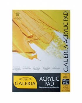 "Winsor & Newton Galeria Acrylic Pad 10"" x 7"" - 255 x 177mm"