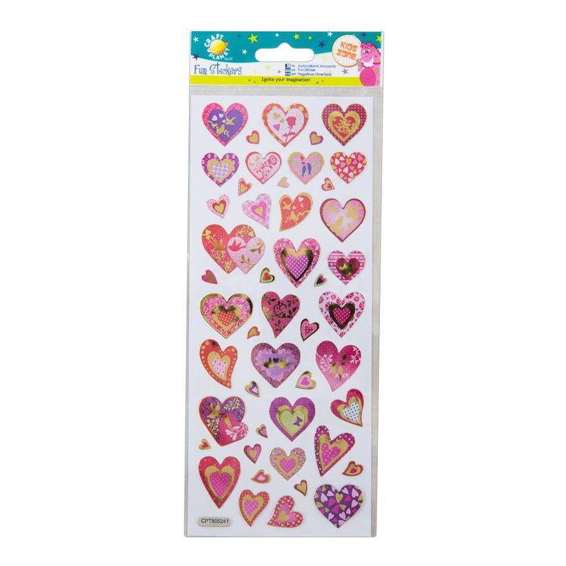 Fun Stickers - Glitter Hearts
