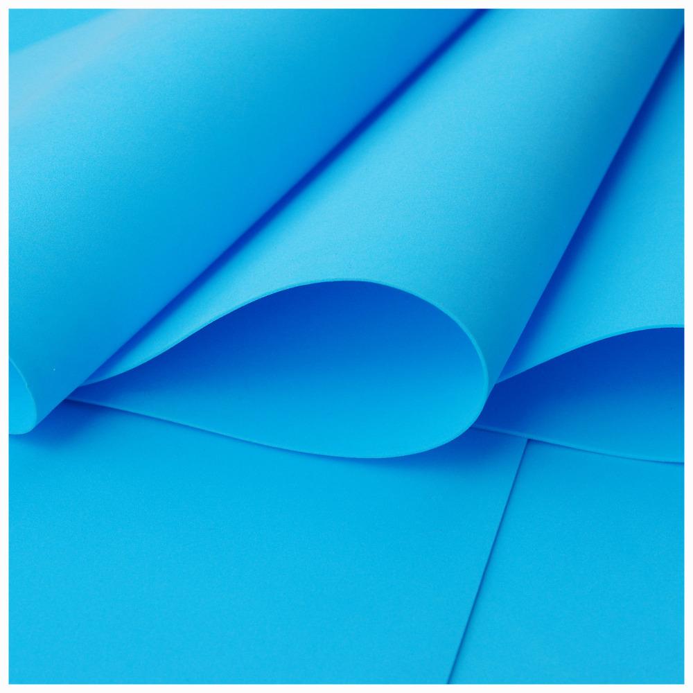 Light Blue Foamiran - Flower making foam (Large sheet 60 x 70cm)