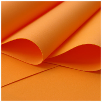 Orange Foamiran - Flower making foam (Large sheet 60 x 70cm)