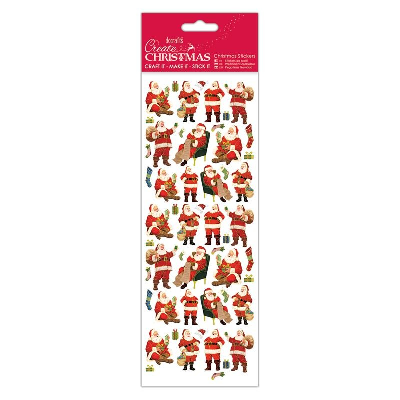Docrafts christmas stickers - Traditional Santa