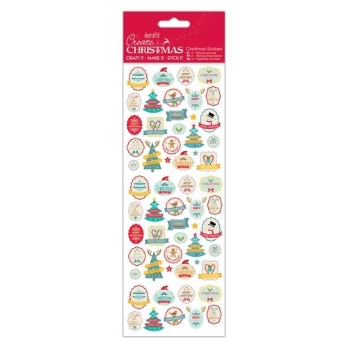 Docrafts Christmas stickers - Retro Stickers