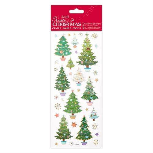 Docrafts christmas stickers - Christmas trees