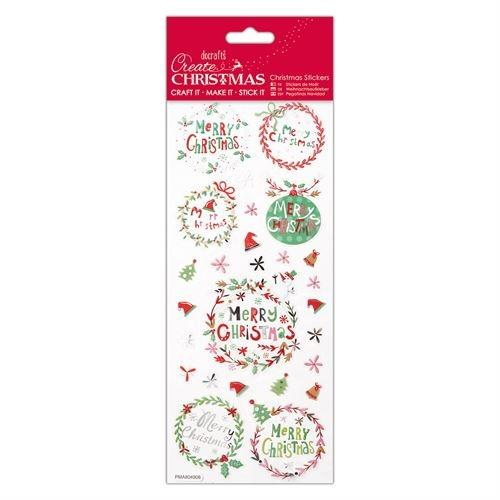 Docrafts christmas stickers - Folk sentiments