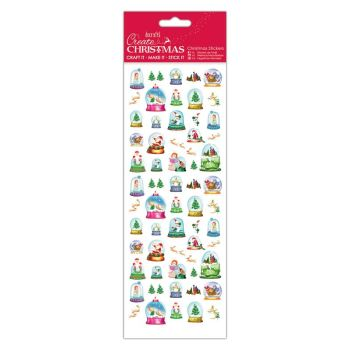 Docrafts christmas stickers - Snowglobes
