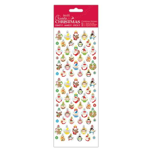 Docrafts christmas stickers - Bauble gift tags