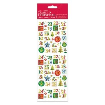 Docrafts christmas stickers - Holly Advent Numbers