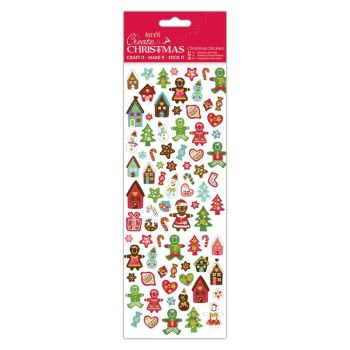 Docrafts christmas stickers - Gingerbread