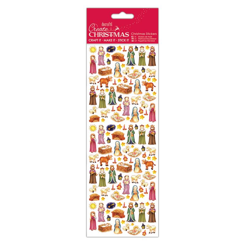 Docrafts christmas stickers - Cute Nativity
