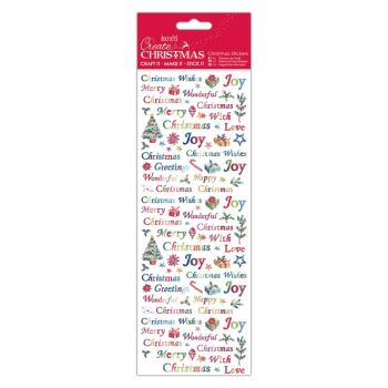 Docrafts christmas sticksers - Christmas Wishes
