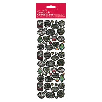 Docrafts christmas stickers - Chalkboard sentiments
