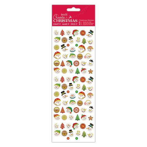 Docrafts christmas stickers - Snowman Faces