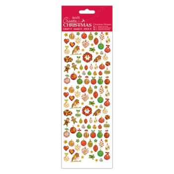 Docrafts christmas stickers - Lustre Baubles
