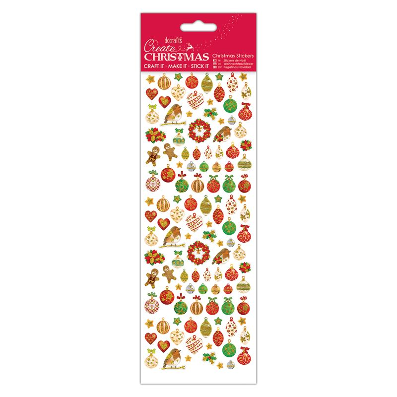 Docrafts christmas stcikers - Lustre Baubles