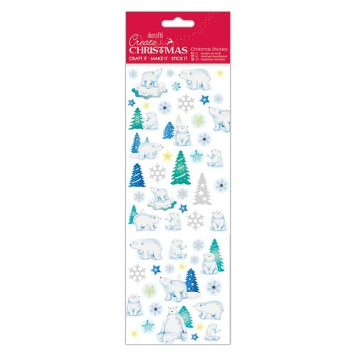 Docrafts chrustmas stickers - Polar Bears