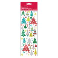 Docrafts christmas stickers - Folk Trees