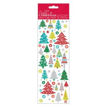 Docrafts christmas stickers - Folk Trees