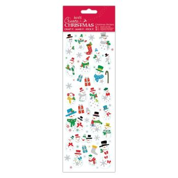 Docrafts christmas stickers - Jolly Snowman