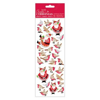 Docrafts christmas stickers - Filigree Santa