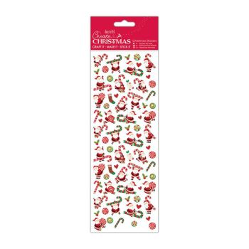 Docrafts christmas stickers - Santa Candy Canes