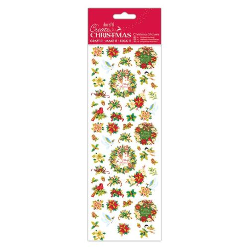 Docrafts christmas stickers - Wreath Sentiments