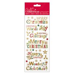 Docrafts christmas Foiled & Embossed stickers - Christmas Sentiments