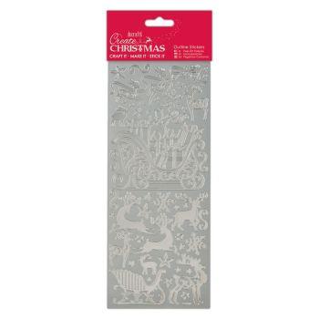 Docrafts Outline stickers - Sleigh Ride