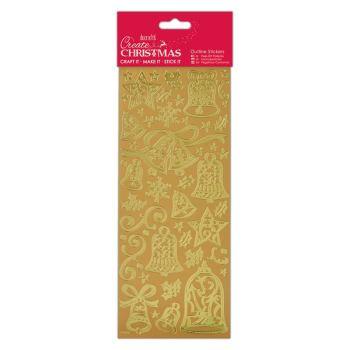Docrafts outline stickers - Bells Gold