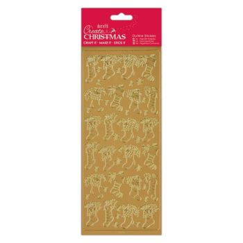 Docrafts outline stickers - Stockings Gold