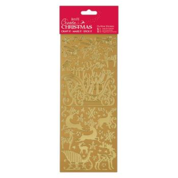 Docrafts outline stickers - Sleigh Ride Gold