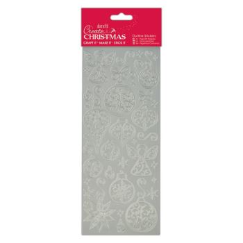 Docrafts outline stickers - Baubles & Angels Silver