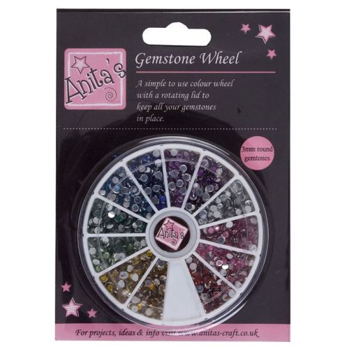 Anitas Gemstone Wheel - (3mm Gems) 12 Colours