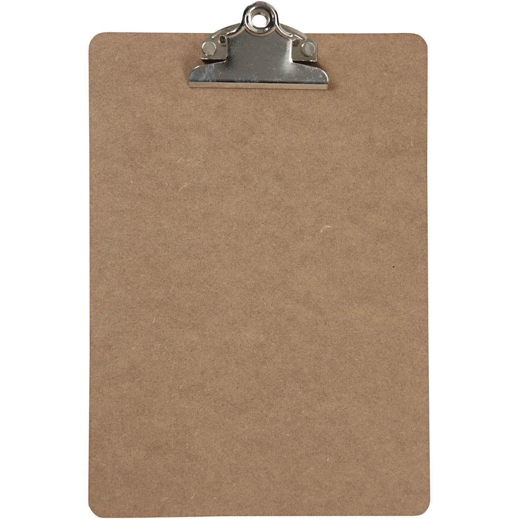 Clipboard, A5 19x27 cm, thickness 3 mm, MDF, A5