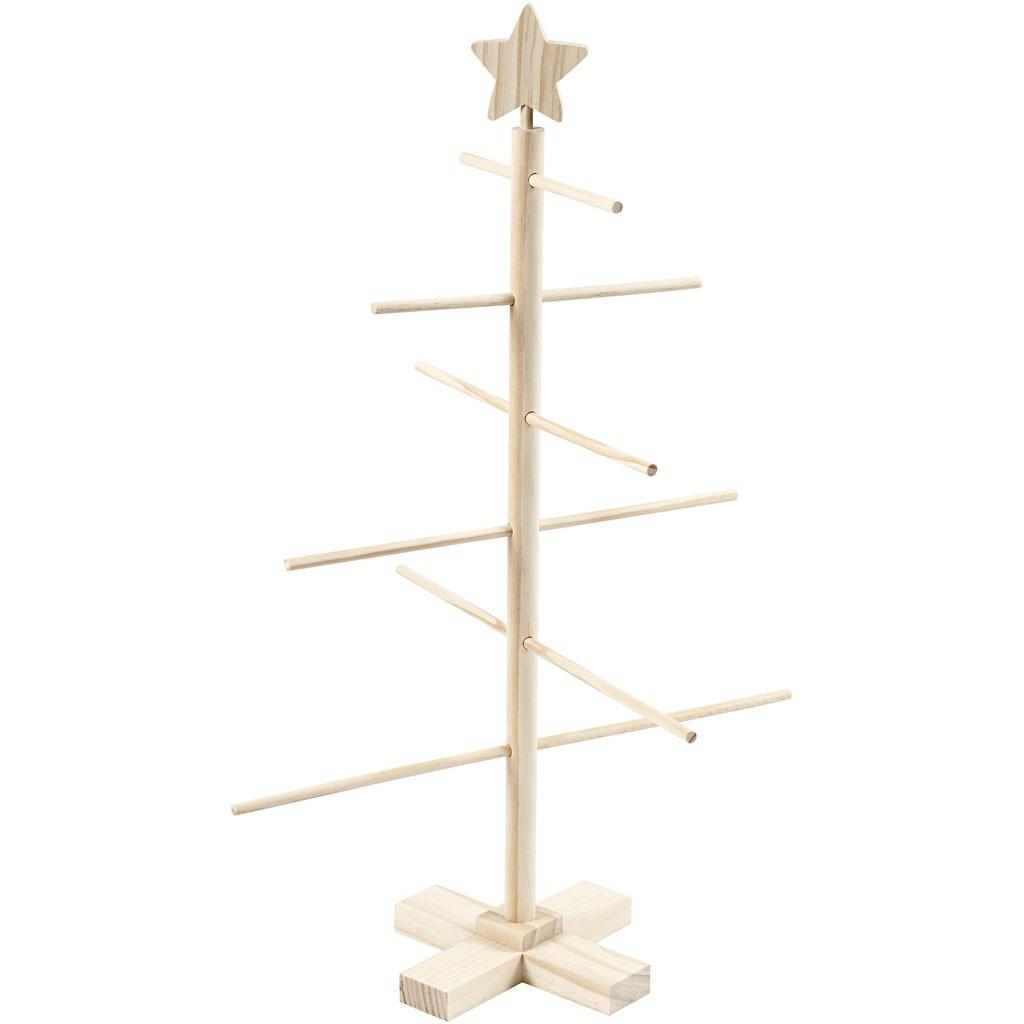 Christmas Tree, H: 60 cm, W: 40,5 cm, wooden / pine