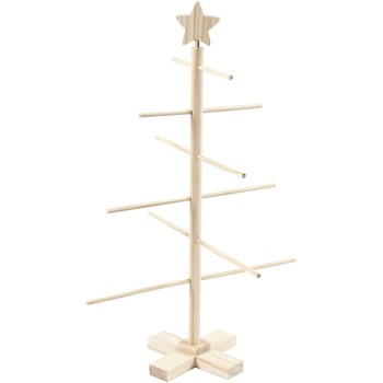 Christmas Tree, H: 60 cm, W: 40,5 cm, wooden / pine