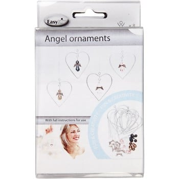 Angel Ornaments, H: 3,5 cm, 8pcs