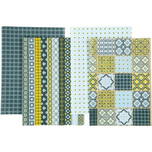 Decoupage Paper, sheet 25x35 cm, 17 g, blue harmony, 8ass sheets