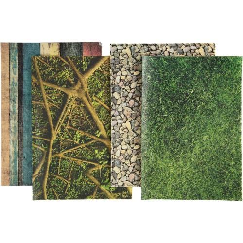 Decoupage Paper, sheet 25x35 cm, 17 g, nature, 8ass sheets