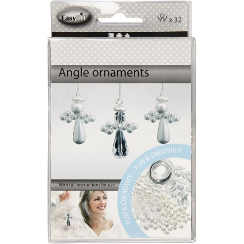 Angel Ornament, H: 2,8 cm, 32pcs