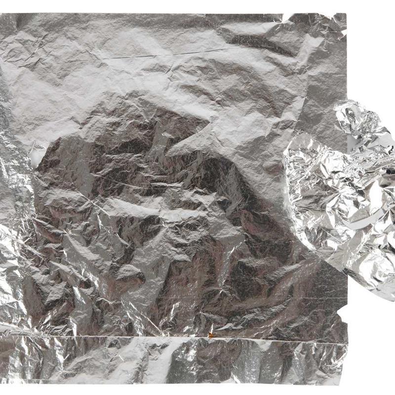 Imitation Metal Leaf, sheet 16x16 cm, silver, 25sheets