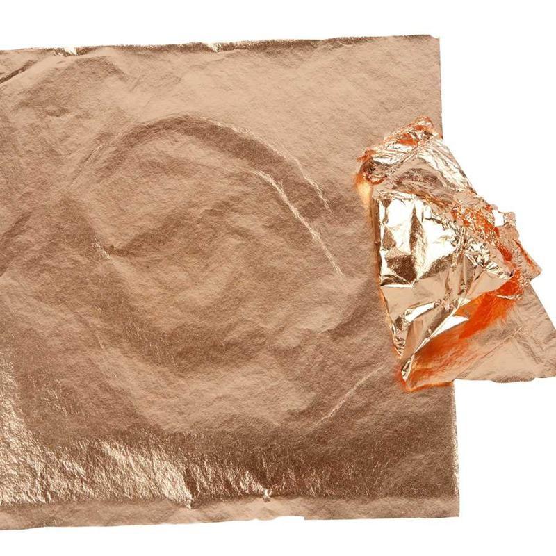 Imitation Metal Leaf, sheet 16x16 cm, copper, 25sheets