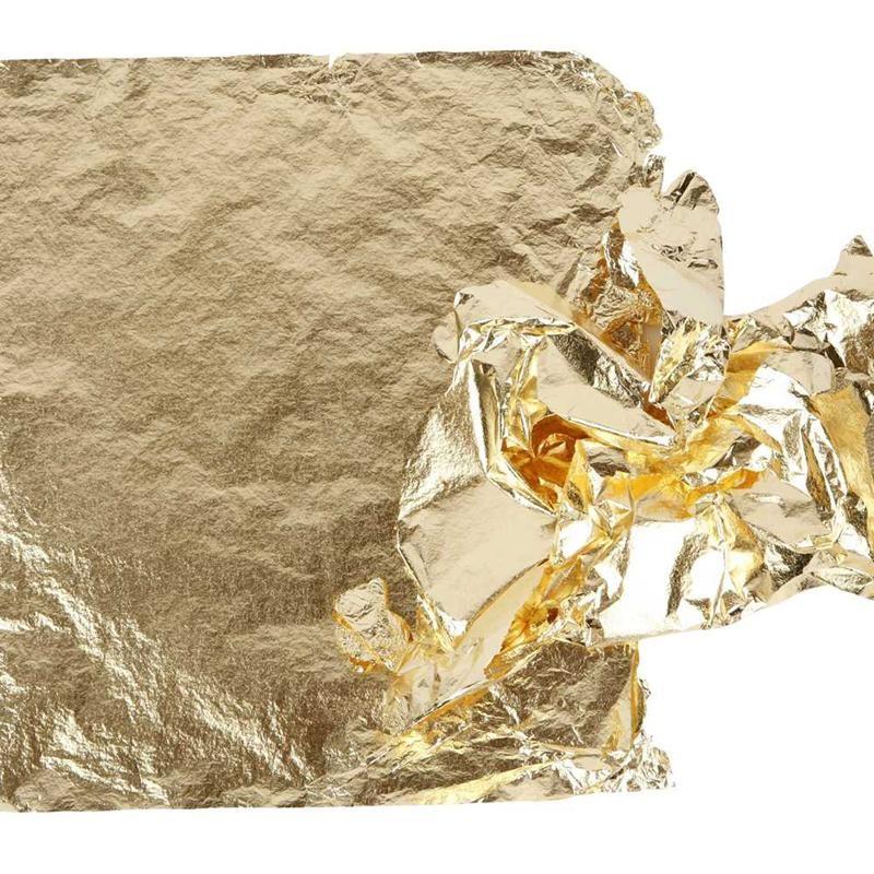 Imitation Metal Leaf, sheet 16x16 cm, gold, 25sheets