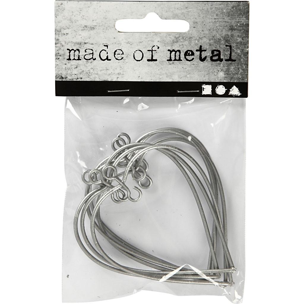 Metal Heart, size 6x6,5 cm, 6pcs